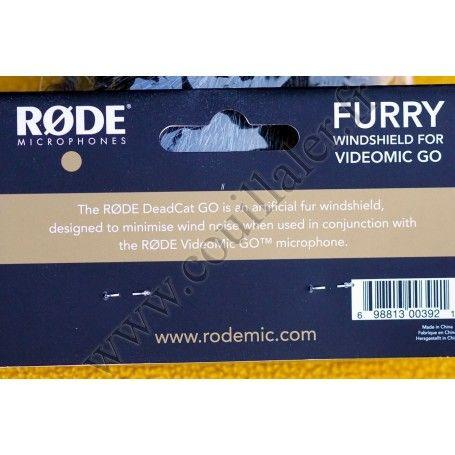 Fourrure synthétique Rode DeadCat Go - pour Microphone Røde VideoMic Go - Rode DeadCat Go - Accessoires Photo-Vidéo Sony Camé...