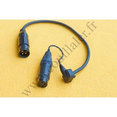 Câble XLR Rode PG2-R Pro Cable pour poignée Røde PG2-R - Adaptateur 3 broches mâle - femelle - Rode PG2-R Pro Cable - Accesso...