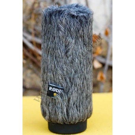 Bonnette anti-vent Rode WS6 - Fourrure Synthétique microphone NTG1, NTG2, NTG4, VidéoMic, micros jusqu'à 160.5mm - Rode WS6 -...