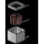 Mic Flag Rycote 107301 - Support publicitaire pour microphone main - Carré 4 faces - Noir - Rycote 107301