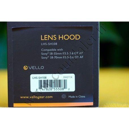 Lens hood Vello LHS-SH108 for lenses Sony SAL-1855, SAL-18552 & SAL-1870 Vello LHS-SH108 Lens hood Vello LHS-SH108 for lenses...