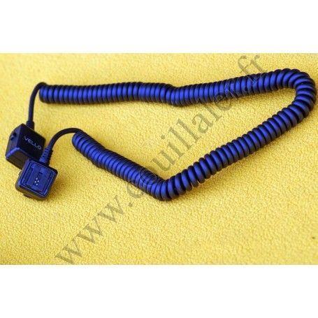 Câble de déport pour flash Vello OCS-S6 - Compatible griffes Sony/Minolta - 2m - Vello OCS-S6 - Accessoires Photo-Vidéo Sony ...