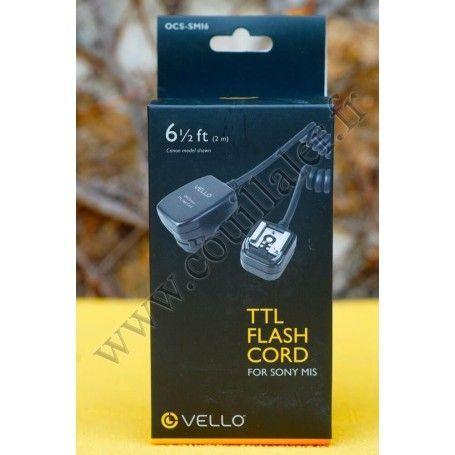 Câble de déport pour flash Vello OCS-SMI6 - Compatible Sony Multi-Interface Shoe MIS - 2m - Vello OCS-SMI6 - Accessoires Phot...