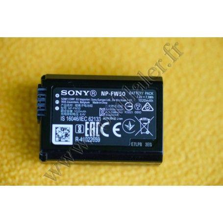 Batterie Sony NP-FW50 - Série W - InfoLithium ActiForce - Sony Alpha DSLR Nex ILCE - Sony NP-FW50 - Accessoires Photo-Vidéo S...