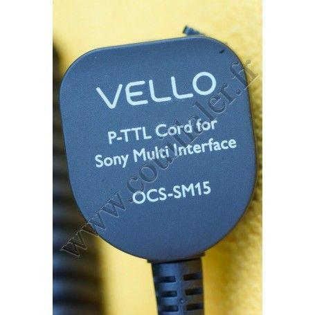 Câble de déport pour flash Vello OCS-SM15 - Compatible Sony Multi-Interface Shoe MIS - 0.5m - Vello OCS-SM15 - Accessoires Ph...