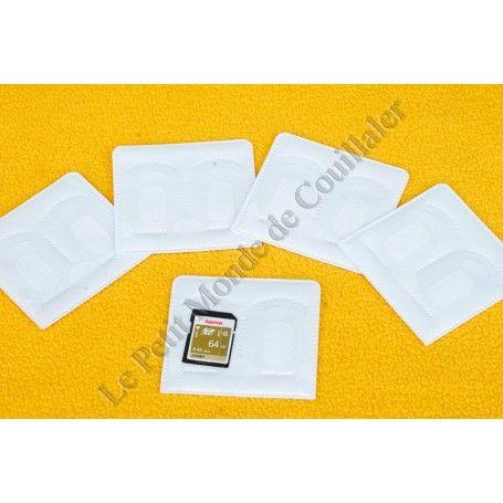 Pochette autocollante Hama 95950 - Rangement pour deux cartes-mémoires adhésif - Hama 95950 - Accessoires Photo-Vidéo Sony Ca...
