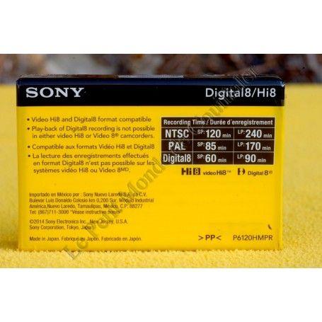 Cassette Hi8 Sony 6120HMPR - 120min - Digital8 - Particules Métalliques - PAL NTSC - Sony 6120HMPR - Accessoires Photo-Vidéo ...