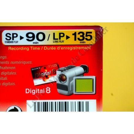 Video Tape Digital 8 Sony N8-90P - 8mm - Camcorder Digital8 Video8 Hi8 Sony N8-90P Video Tape Digital 8 Sony N8-90P - 8mm - C...