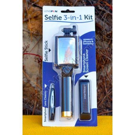 Kit Perche SELFIE STICK 3-en-1 Lenspen L-SELF - CANNE + SMARKLEAR + CELLKLEAR - 3-in-1 - Lenspen L-SELF - Accessoires Photo-V...