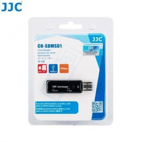 Lecteur de carte-mémoire JJC CR-SDMSD1 - USB 3.0 - SD et MicroSD SDHC/SDXC - JJC CR-SDMSD1 - Accessoires Photo-Vidéo Sony Cam...