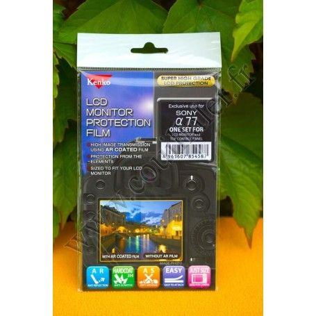 Protection écran LCD Kenko LCD-S-77 pour Sony Alpha SLT-A77 - Kenko LCD-S-77 - Accessoires Photo-Vidéo Sony Caméscope Apparei...